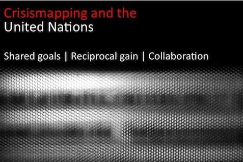 Crisismapping + UN